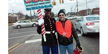 Joe Patrell with Toys For Tots